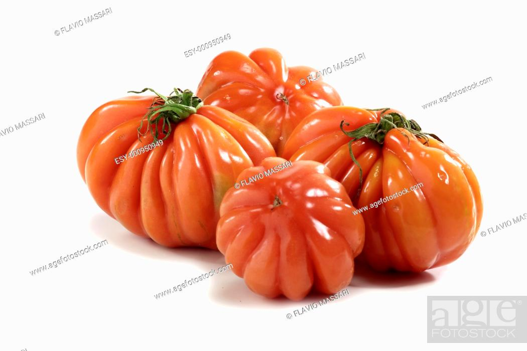 Stock Photo: 'beefheart' kind tomatoes.