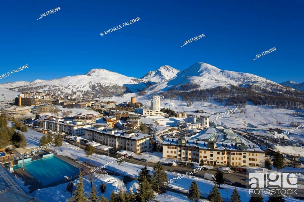 Stock Photo Sestriere Ski Resort Site Of 2006 Winter Olympics Turin Province Piedmont
