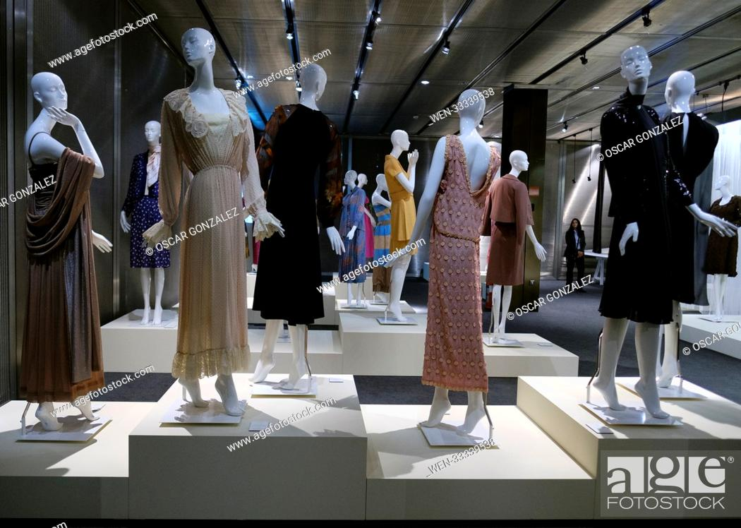 Stock Photo: Pedro Rovira retrospective exhibition at the Costume Museum, one of the great names of classic haute couture can be seen from November 16, 2017 - February 18.