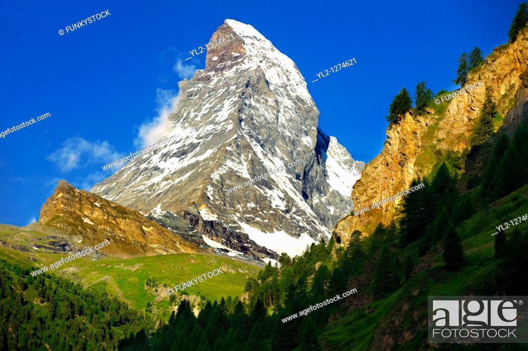 Stock Photo: Matterhorn Mountain - Swiss Alps.