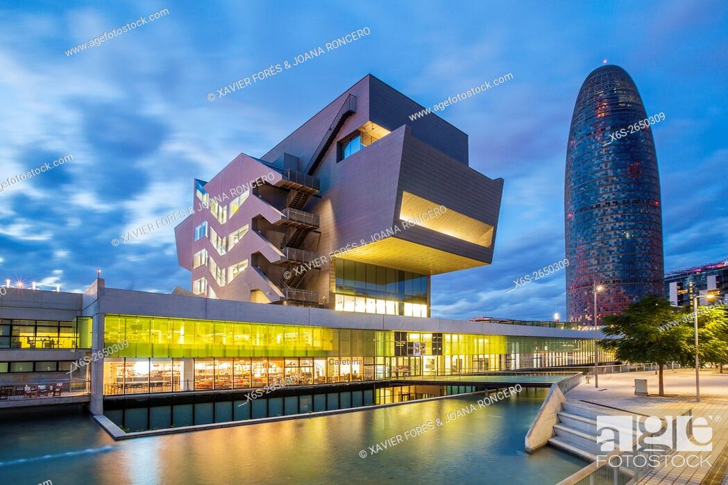 Stock Photo: Agbar building and Design Museum of Barcelona, Barcelona, Spain.