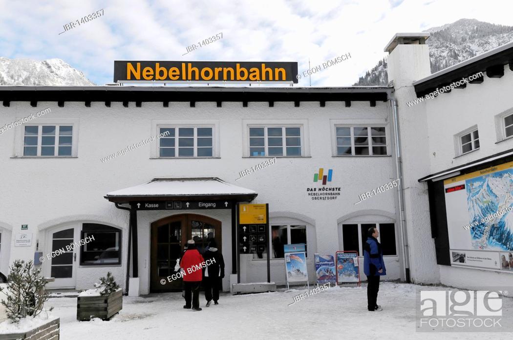 Stock Photo: Valley station, Nebelhorn Cable Car, Nebelhorn, 2224m, Oberstdorf, Allgaeu, Bavaria, Germany, Europe.