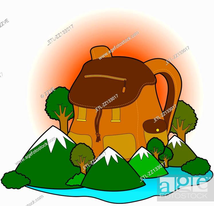 Stock Photo: Mountaineering bag.