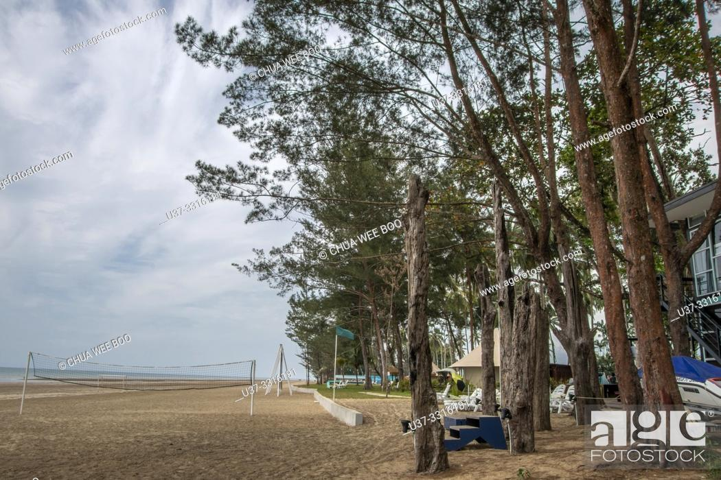 Stock Photo: Roxy Beach Hotel, Sematan, Sarawak, Malaysia.