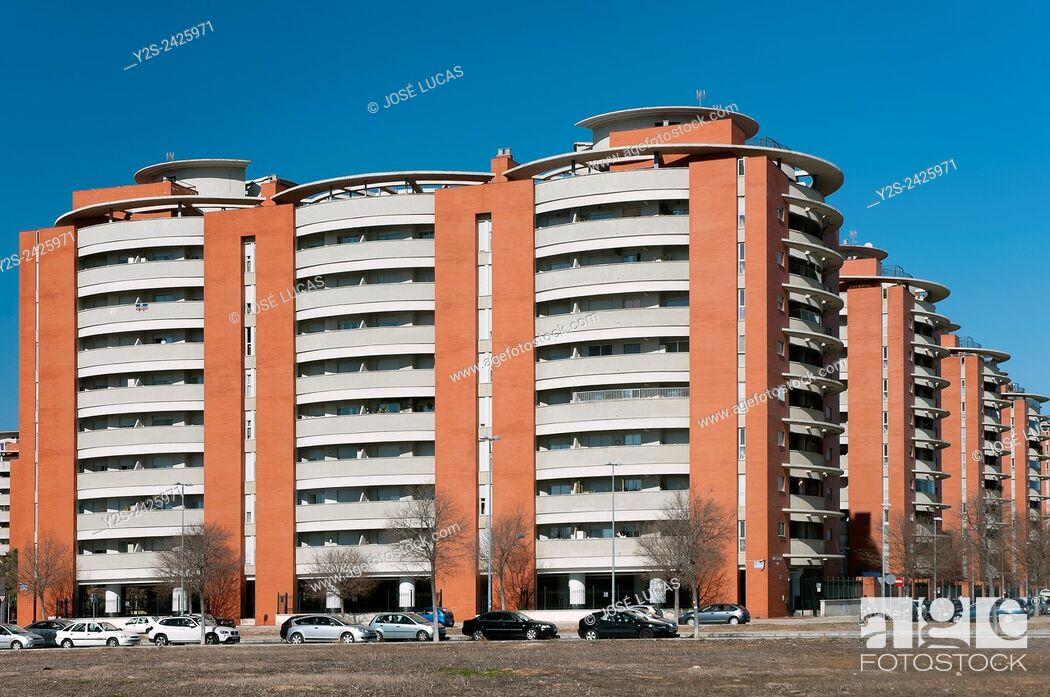 "Stock Photo: Urbanization """"Jardines de Hercules"""", Sevilla, Region of Andalusia, Spain, Europe."