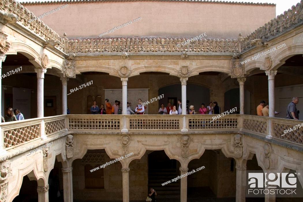 Stock Photo: Public library building, Salamanca, Castilla y Leon, Spain, Europe.