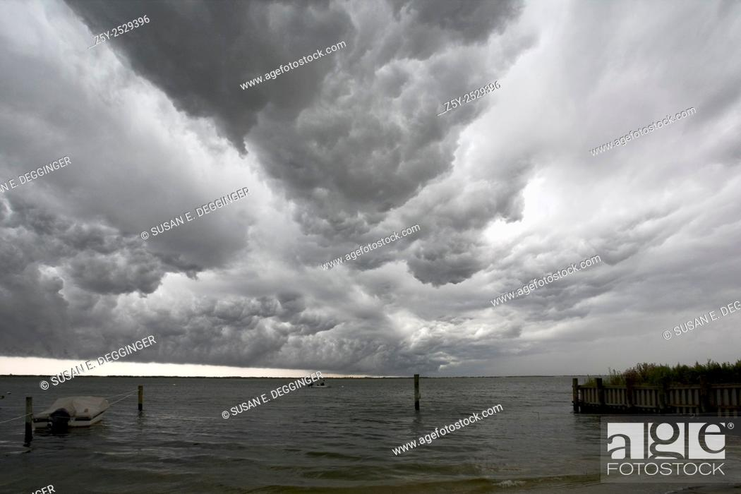 Weather Front, Approaching Storm Clouds, Long Island, NY