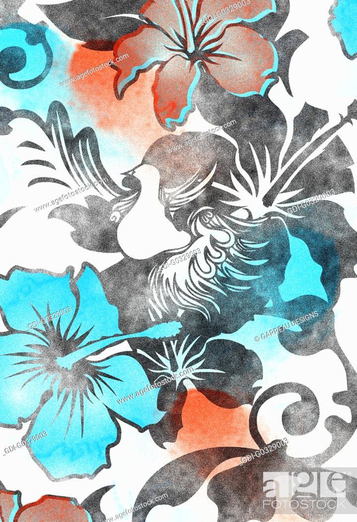 Imagen: Hibiscus flower design.