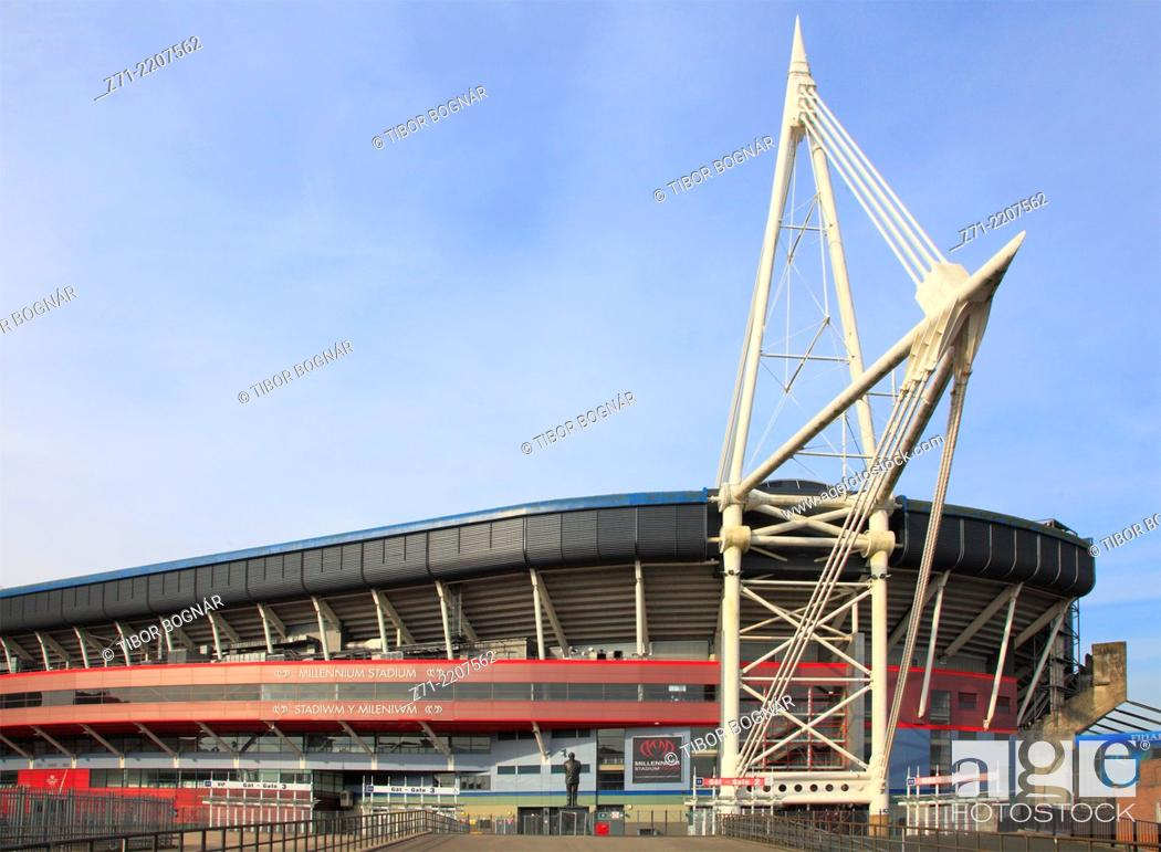 Stock Photo: UK, Wales, Cardiff, Millennium Stadium,.