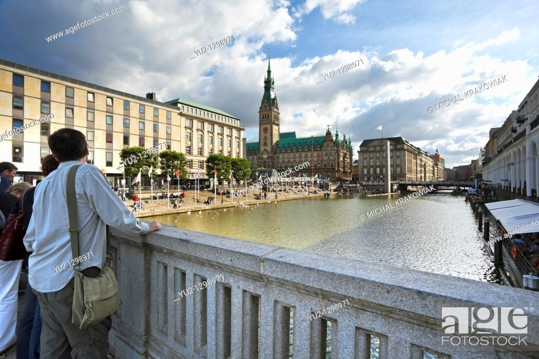 Stock Photo: Town Hall of Hamburg, Germany.
