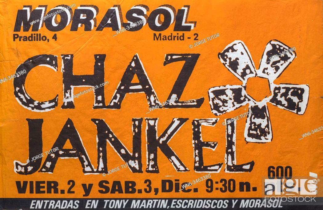 Imagen: Chaz Jankel, Morasol Madrid 1983, Musical concert poster.