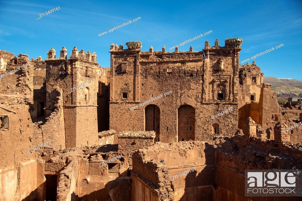 Stock Photo: famous kasbah of Telhouet in Morocco.