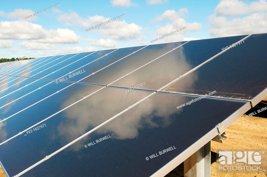 Stock Photo: Solar Panel Close-up.