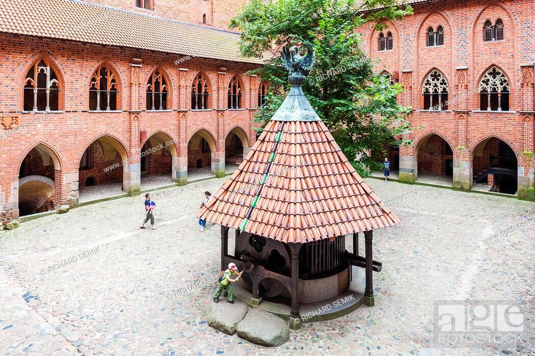 Stock Photo: Malbork Castle, Pomerania, Poland.