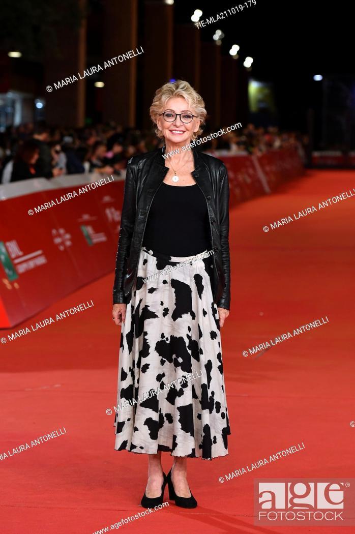 Imagen: Enrica Bonaccorti during the red carpet of film ' Il ladro di giorni ' at the 14th Rome Film Festival, Rome, ITALY-20-10-2019.
