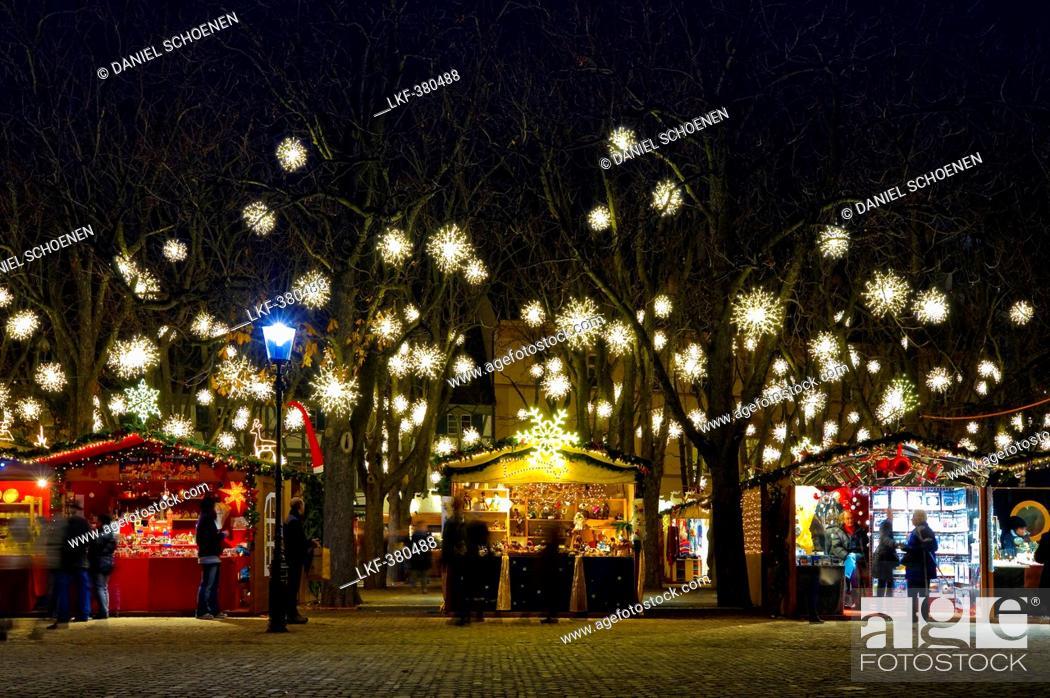 Basel Christmas Market.Christmas Market With Christmas Decorations Basel