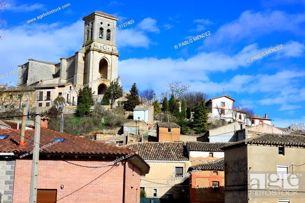 Imagen: View of the church of San Pedro in Pampliega, Burgos, Spain.