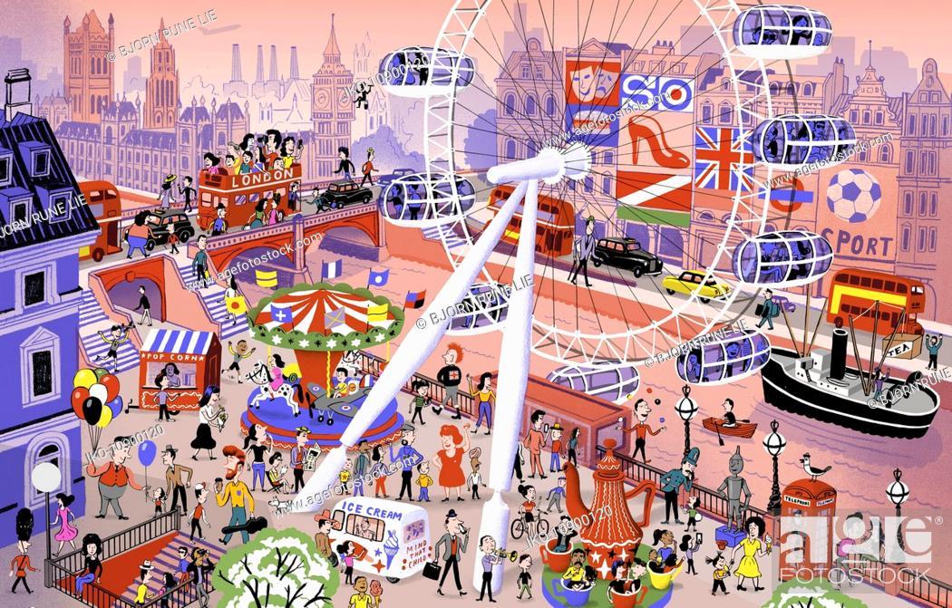 Stock Photo: Busy iconic London scene.