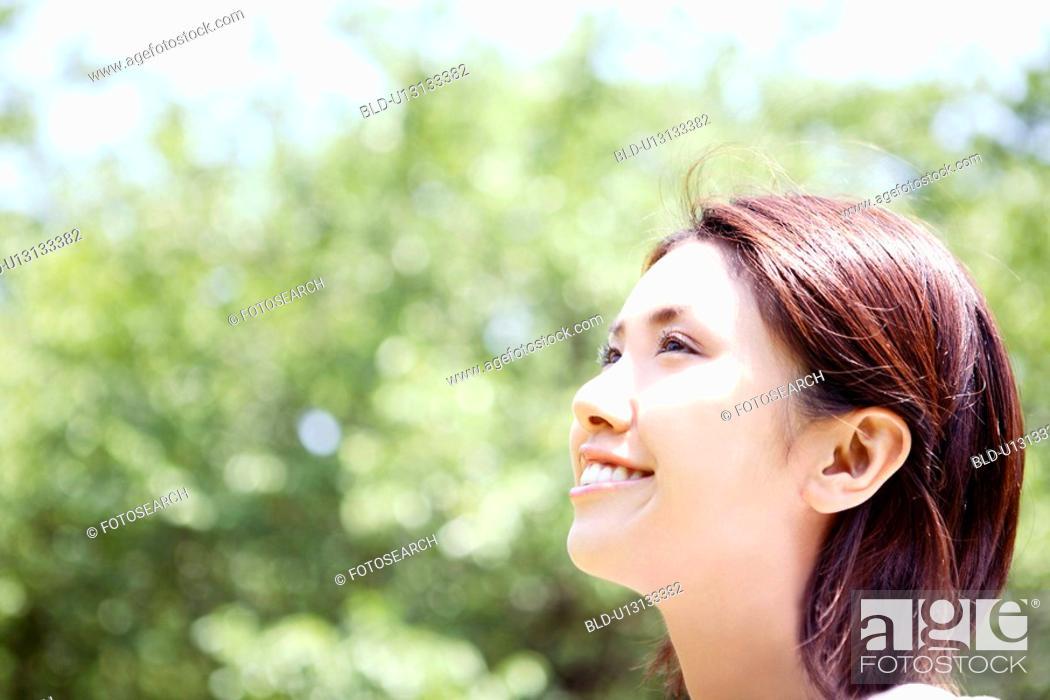 Stock Photo: Bracing woman.