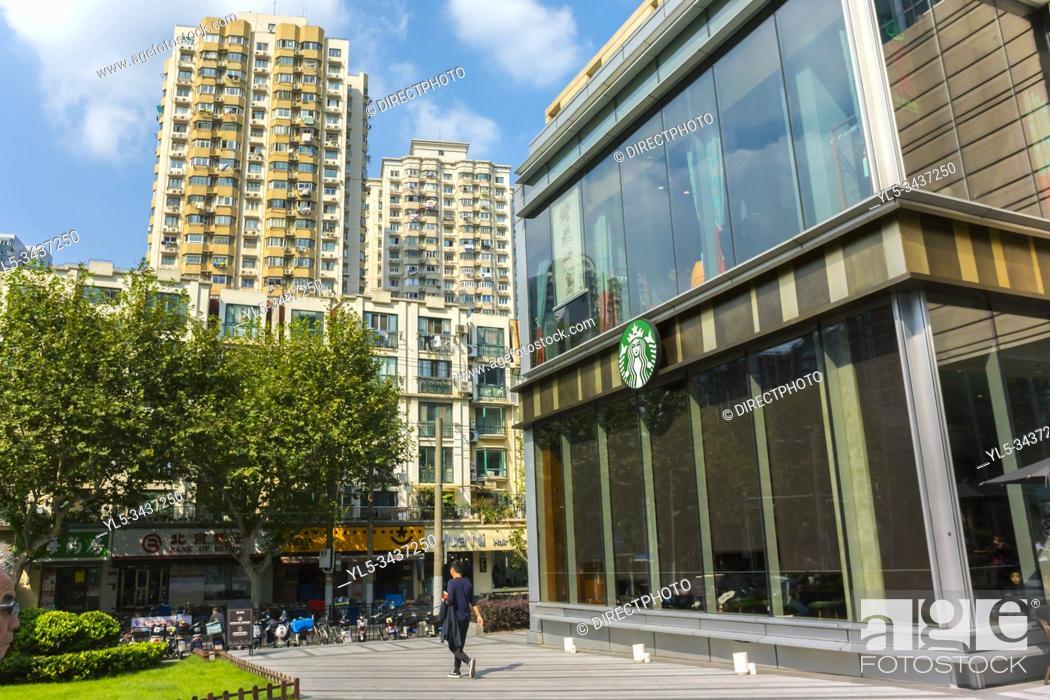 Stock Photo: Shanghai, China, Zhong Hai Huan Yu Hui Shopping Center, Xin TIan Di Area. Plaza.