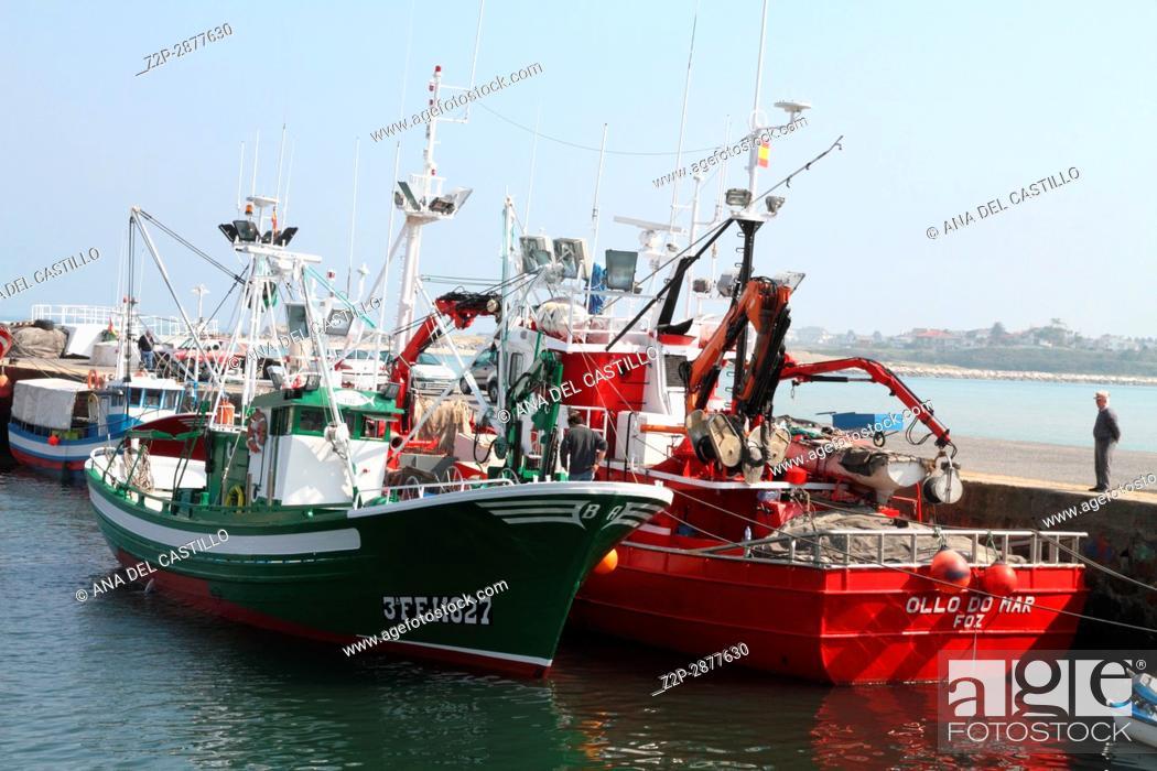 Stock Photo: Fishing harbor in Foz Lugo Galicia Spain.