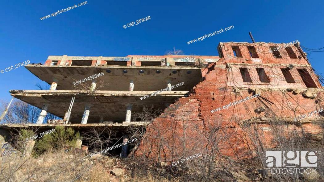 Stock Photo: Abandoned Swift Meat Packing Plant.