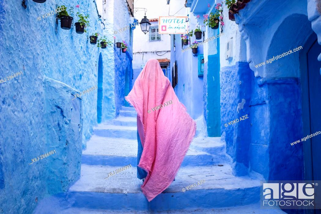 Imagen: Morocco, Chefchaouen, daily life.