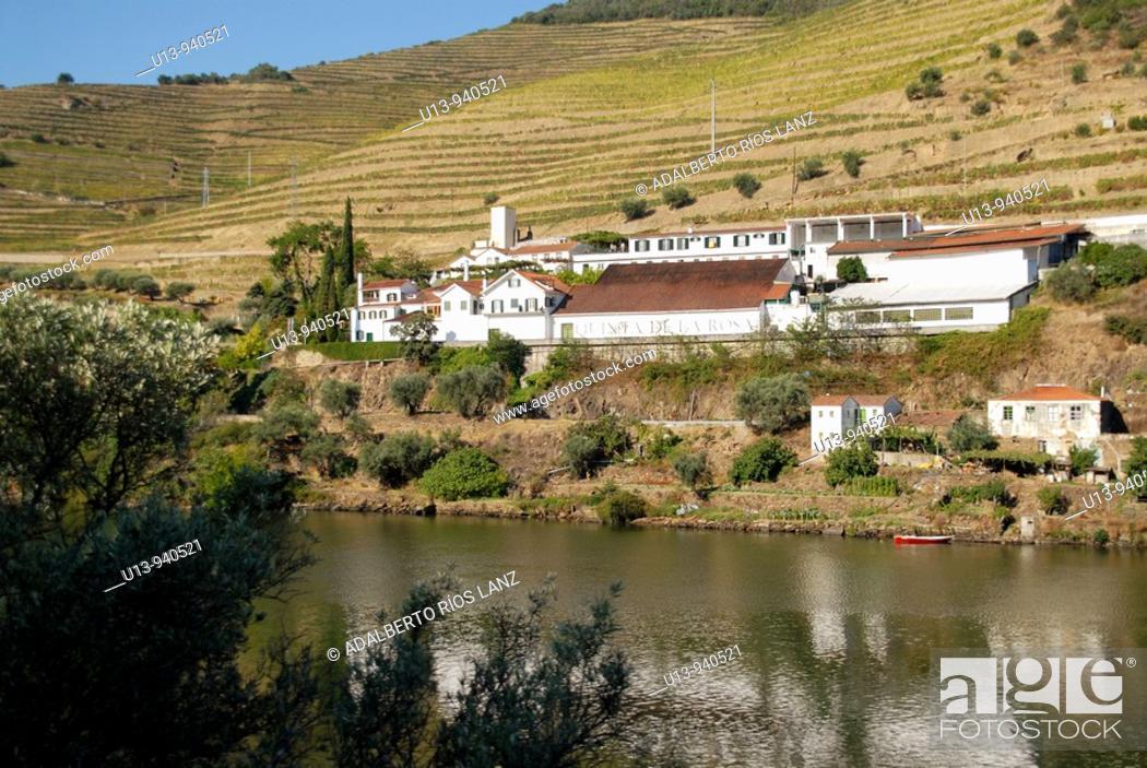 Stock Photo: symington Family Estates Port Wine Factory Plant Pinheiro Duoro River Portugal.