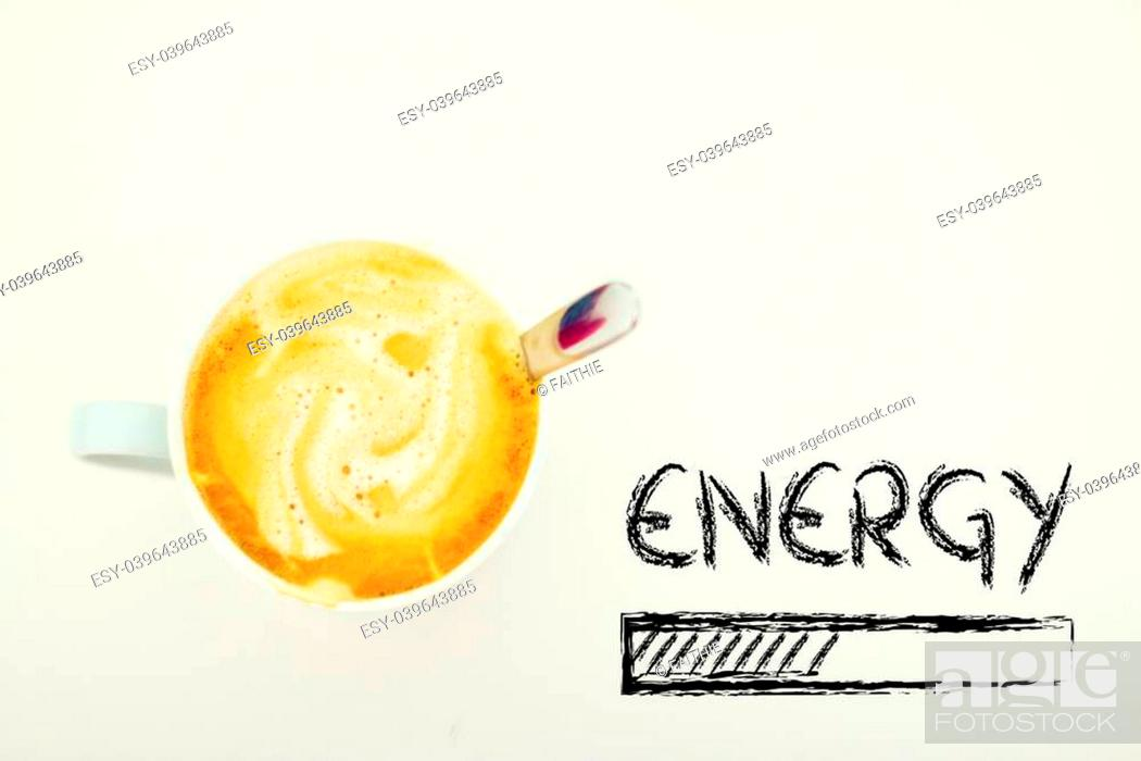 Stock Photo: coffee and energy loading.