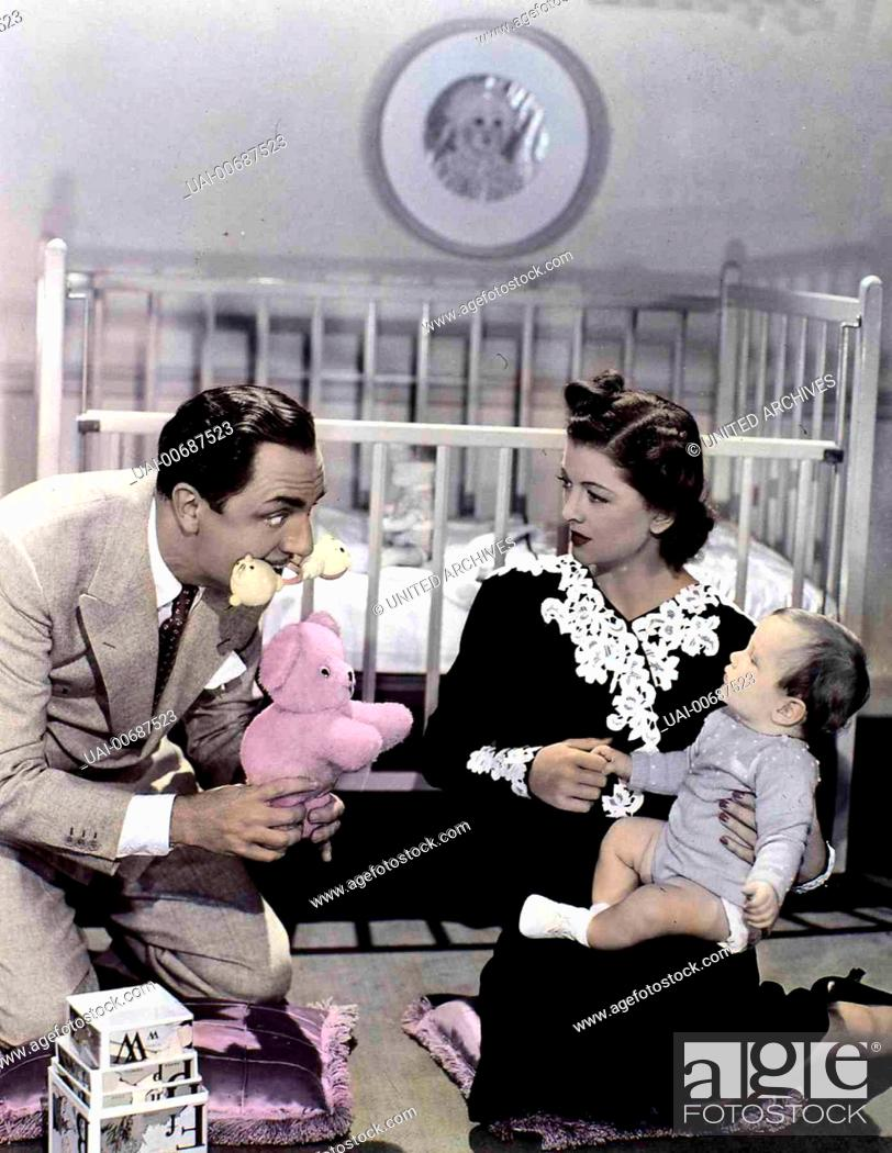 Stock Photo: Myrna Loy, William Powell, William A. Poulsen Das Detektiv-Ehepaar Nora (Myrna Loy) und Nick Charles (William Powell) plant mit seinem Sohn Nicky (William A.