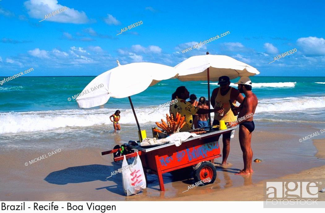 Stock Photo: Brazil - Recife - Boa Viagem.
