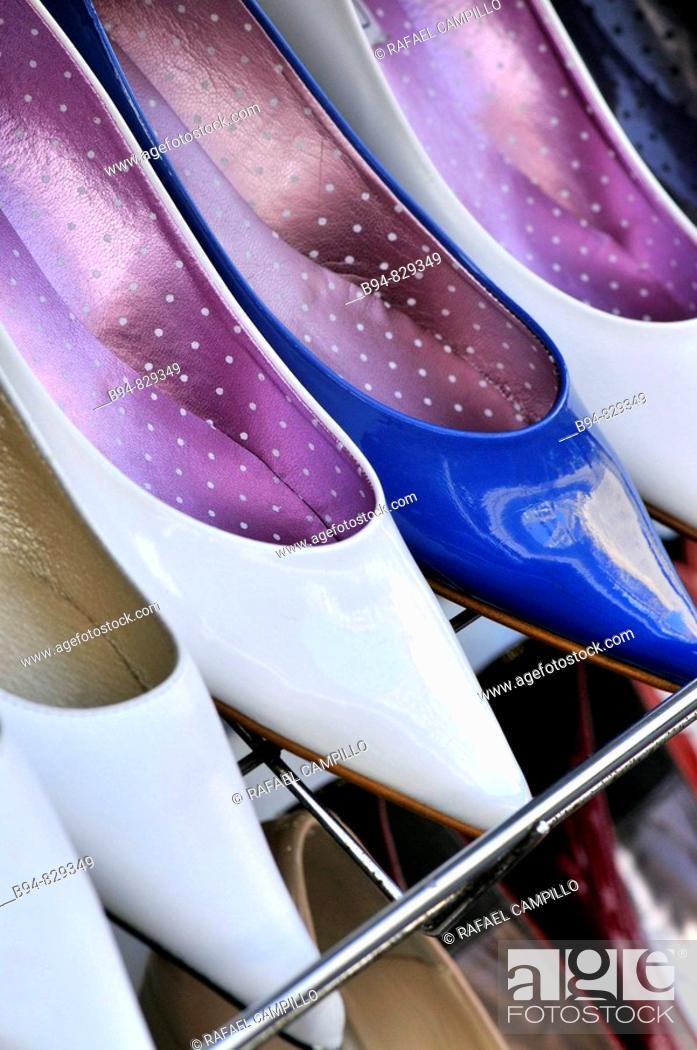 Stock Photo: Women's shoes. Barcelona, Catalonia, Spain.