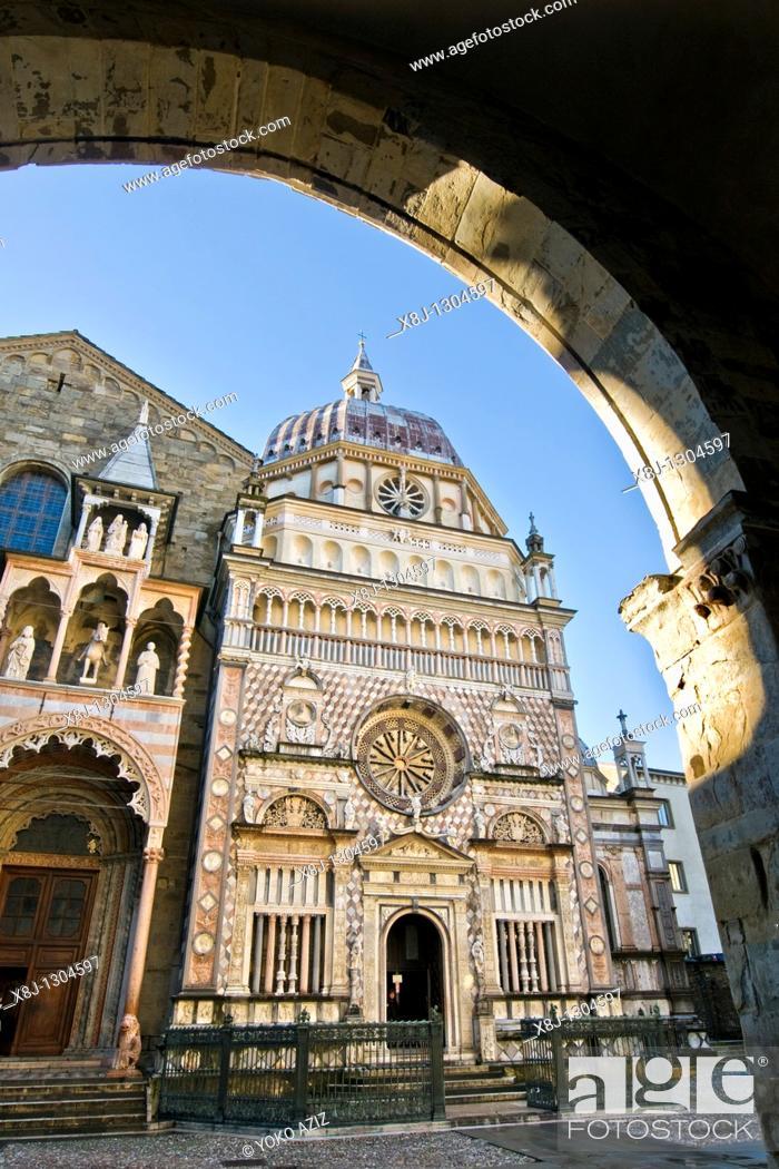 Stock Photo: Colleoni chapel, Bergamo, Italy.