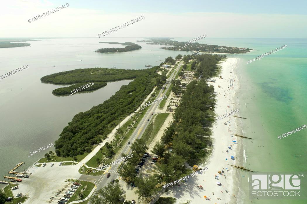 Stock Photo: Beaches at Anna Maria Island at Bradenton Florida FL beach.