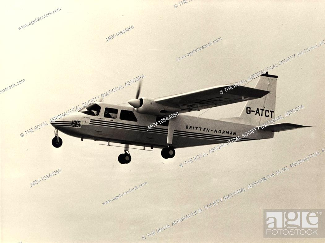 Prototype Britten-Norman BN2 Islander, G-ATCT, Stock Photo