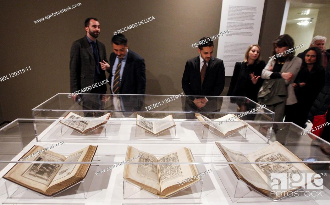 Imagen: Exhibition 'Leonardo da Vinci. La scienza prima della scienza' ( The science before the science) at Scuderie del Quirinale, Rome, ITALY-12-03-2019.