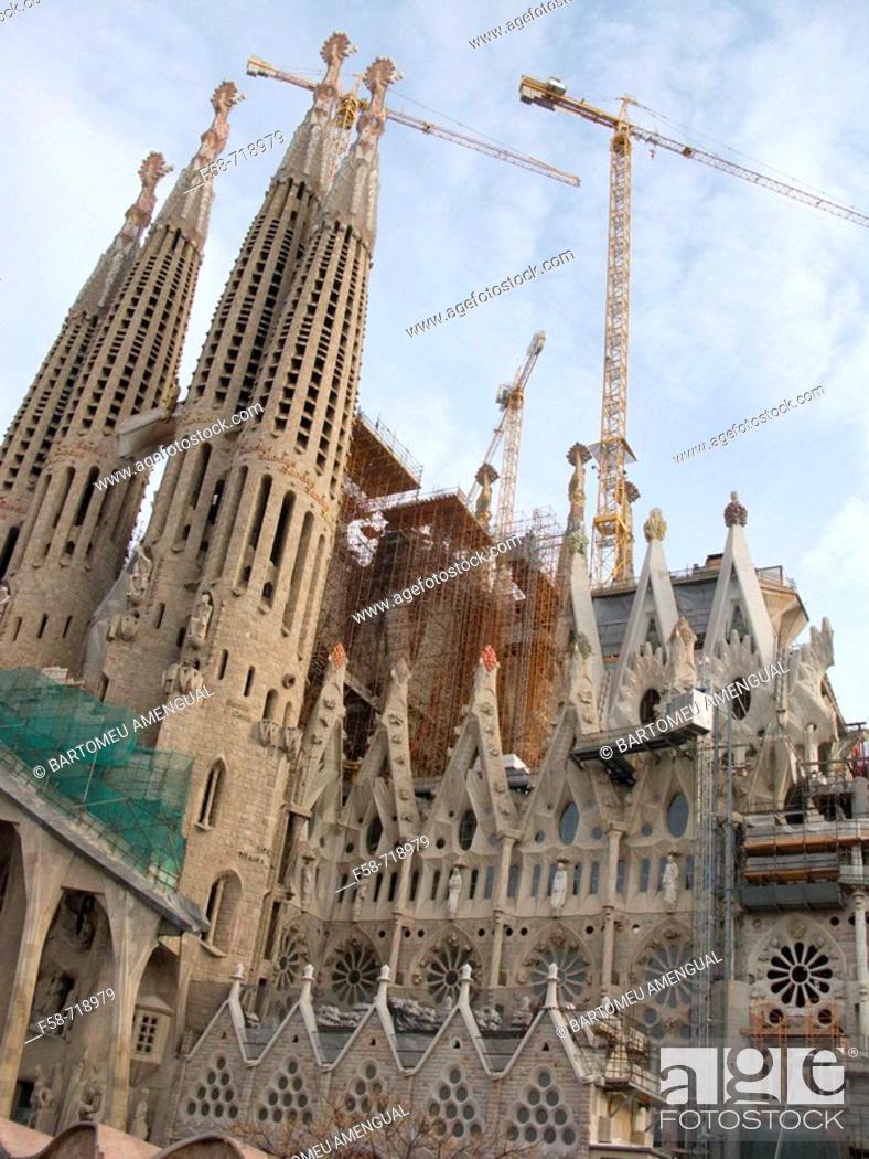 Stock Photo: Sagrada Familia temple, Barcelona. Catalonia, Spain.