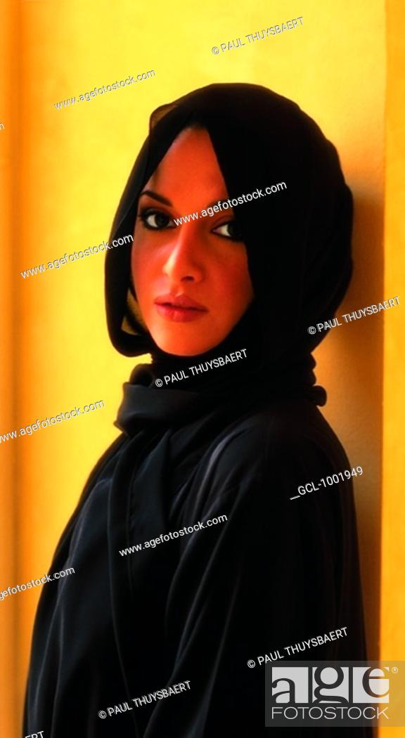 Stock Photo: Portrait of an Arab woman.