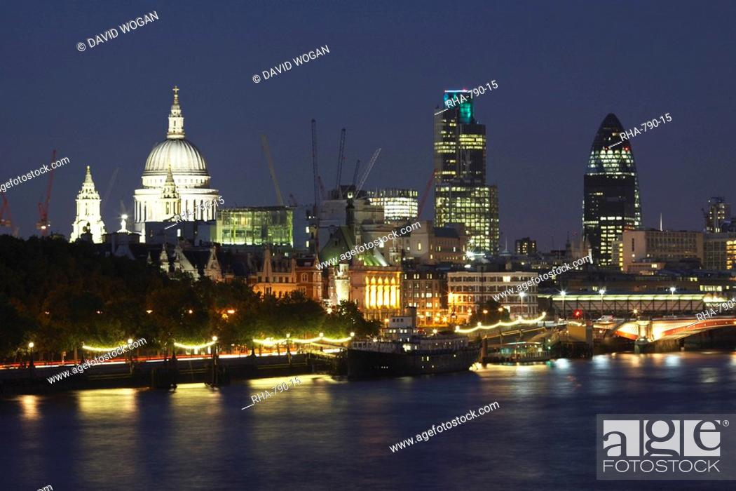 St Pauls Cathedral And The City Of London Viewed From