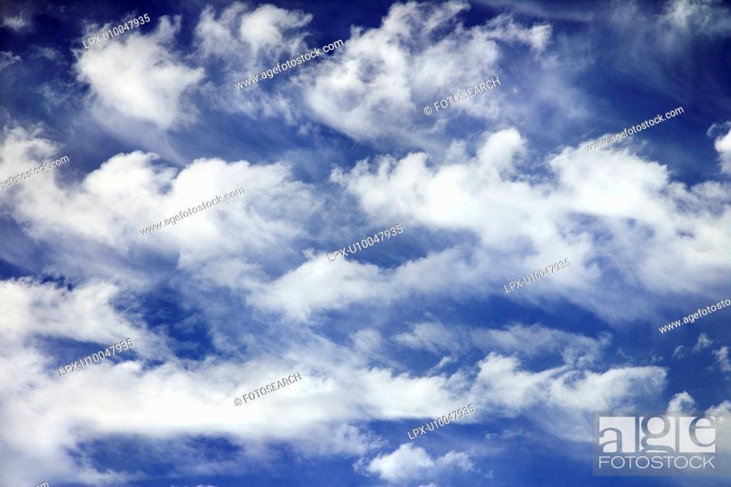Stock Photo: Blue sky and clouds over Maui, Hawaii, USA.