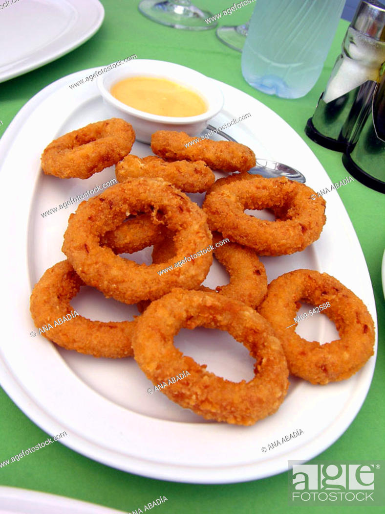 Stock Photo: Onion rings.