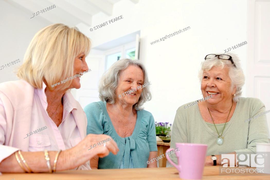 Stock Photo: Senior women.