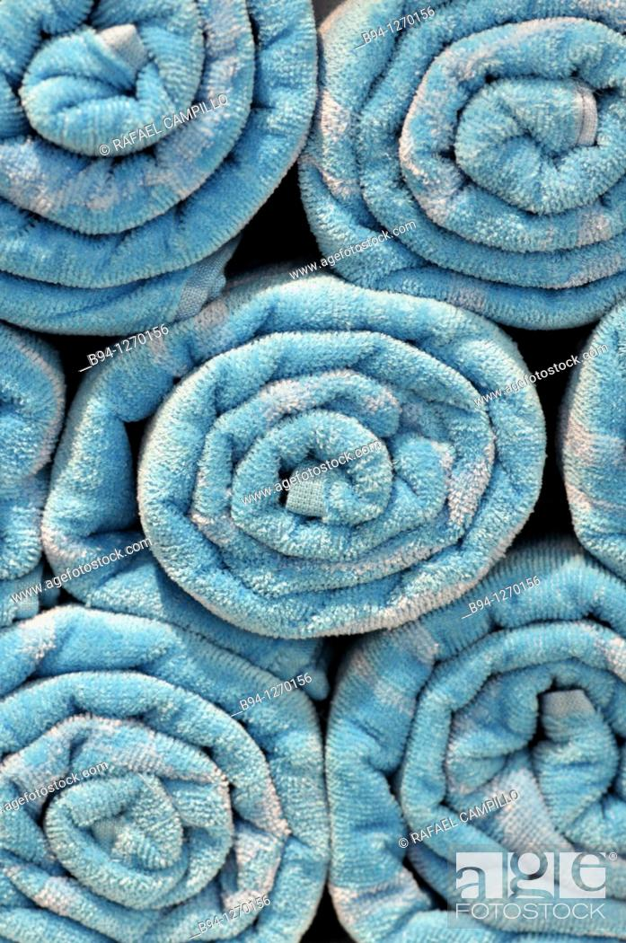 Stock Photo: Blue towels.