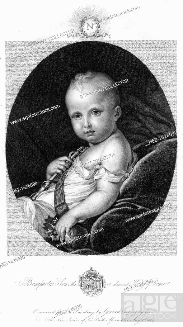 Stock Photo: Napoleon II (1811-1832), 1814. Napoleon II was the son of Napoleon Bonaparte, the Emperor of France.