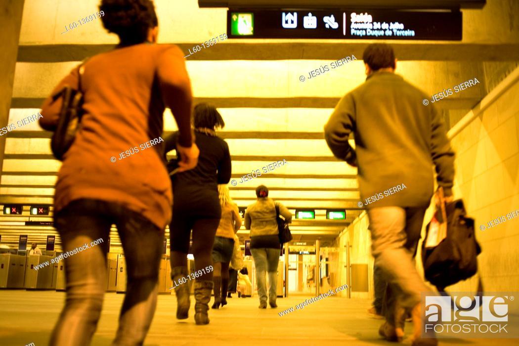 Stock Photo: Subway in Lisboa, Portugal.
