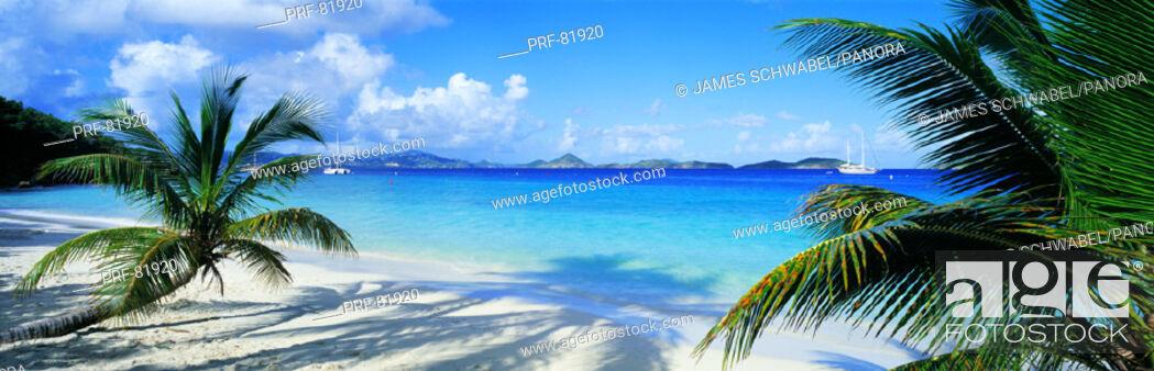 Stock Photo: Beach US Virgin Islands.