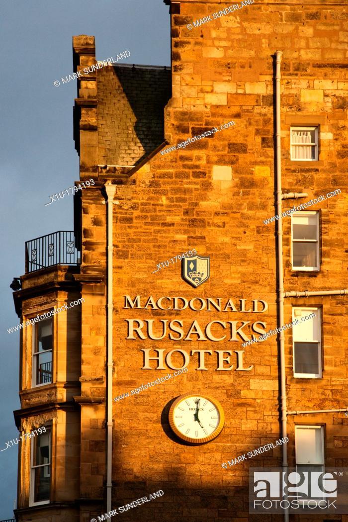 Stock Photo Rusacks Hotel St Andrews Fife Scotland