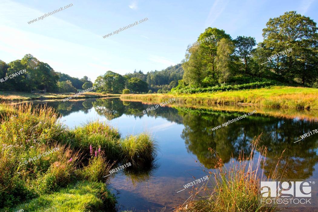 Stock Photo: River Brathay, Elter Water, Lake District, UNESCO World Heritage Site, Cumbria, England, United Kingdom, Europe.