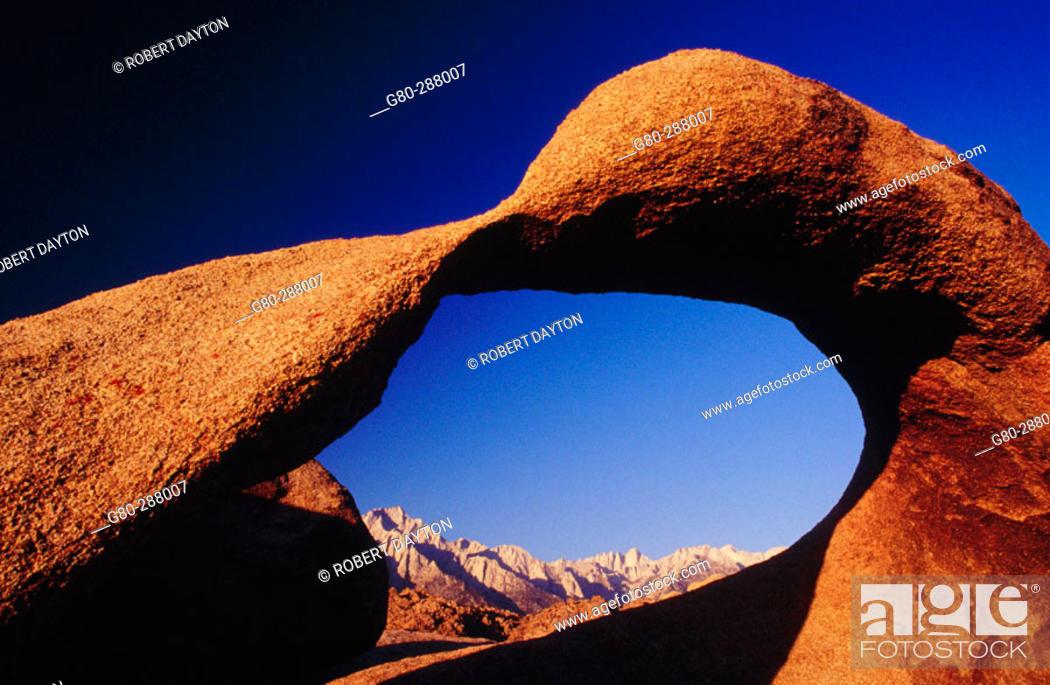 Stock Photo: Arch. Alabama Hills. California. USA.
