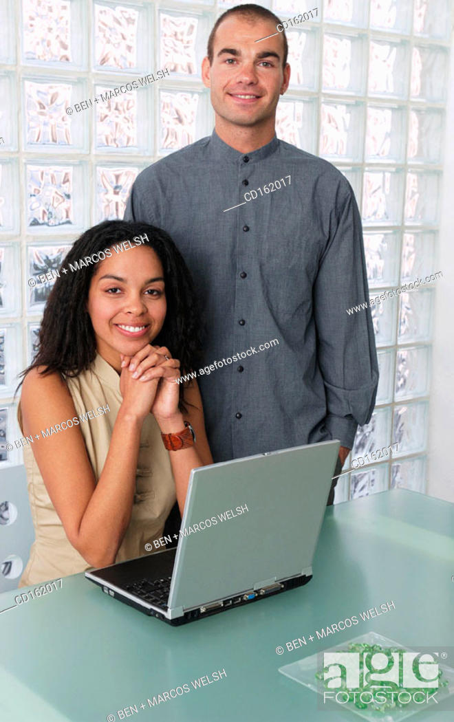 Stock Photo: Coworkers.